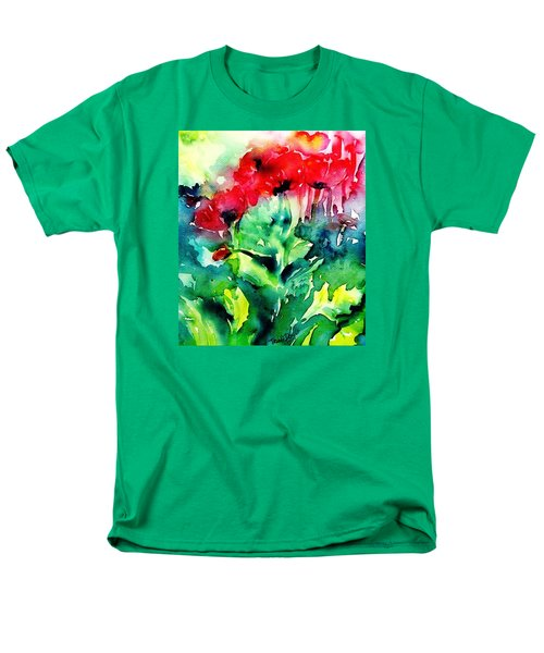 Men's T-Shirt  (Regular Fit) featuring the painting A Haze Of Poppies by Trudi Doyle