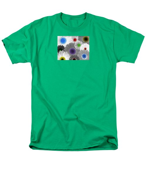 Men's T-Shirt  (Regular Fit) featuring the digital art Behind Every Black And White Dream Theres A Rainbow Waiting To Be Seen by Janice Westerberg