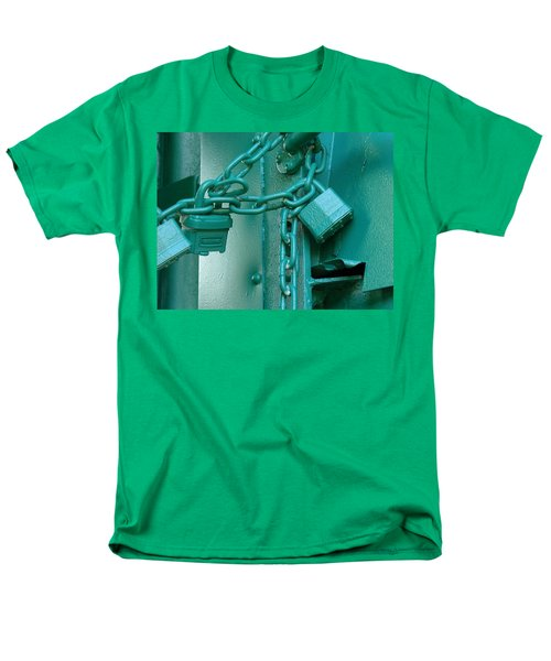 Men's T-Shirt  (Regular Fit) featuring the photograph Blue Locks by Rodney Lee Williams