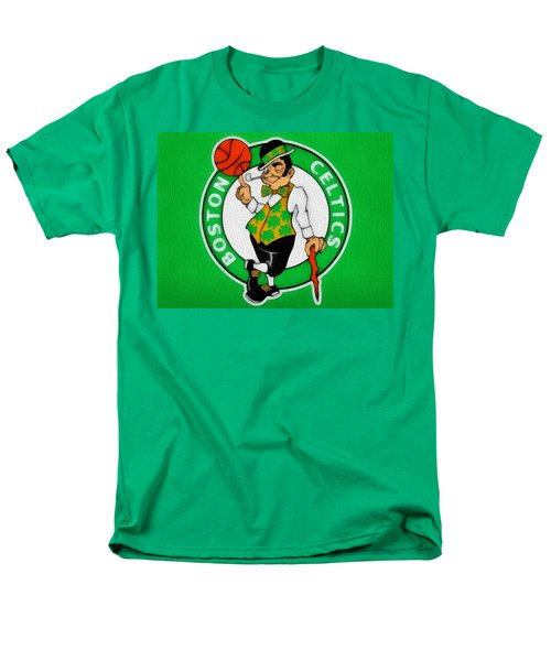 Boston Celtics Canvas Men's T-Shirt  (Regular Fit) by Dan Sproul