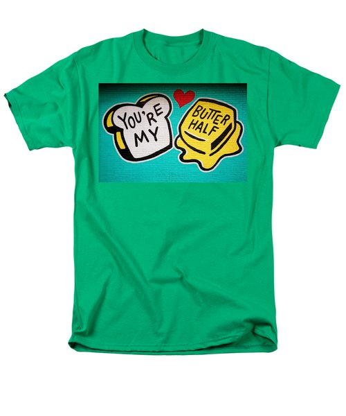 Butter Half Men's T-Shirt  (Regular Fit) by Dave Files