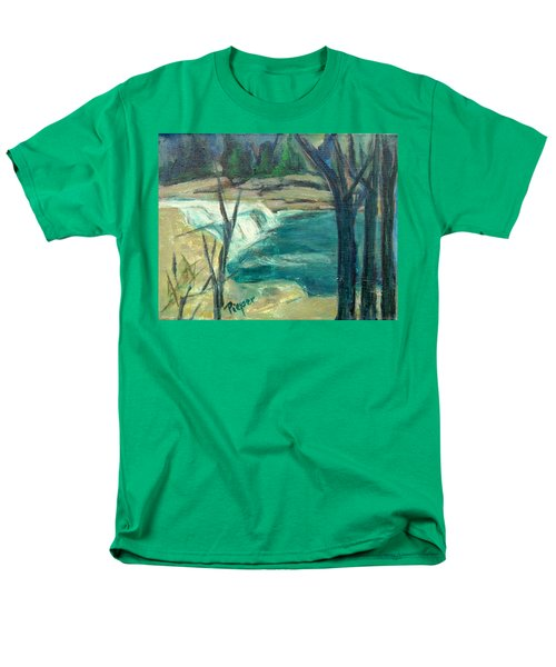 Men's T-Shirt  (Regular Fit) featuring the painting Canajoharie Creek Near Village by Betty Pieper