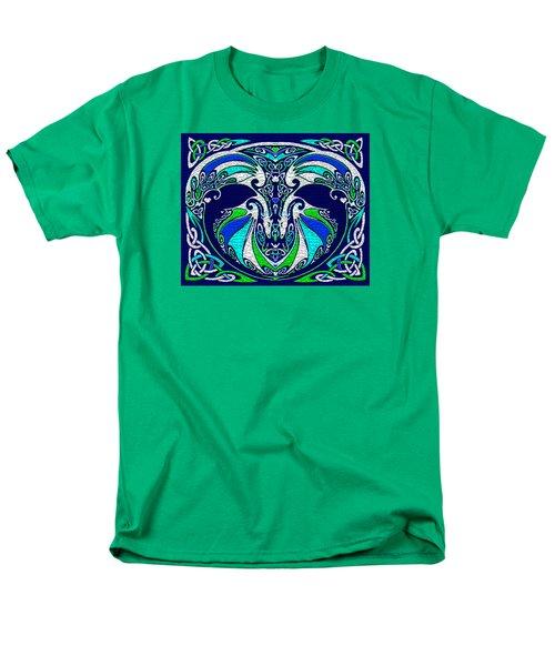 Celtic Love Dragons Men's T-Shirt  (Regular Fit) by Michele Avanti