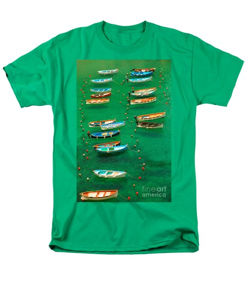 Fishing Boats In Vernazza Men's T-Shirt  (Regular Fit) by David Smith