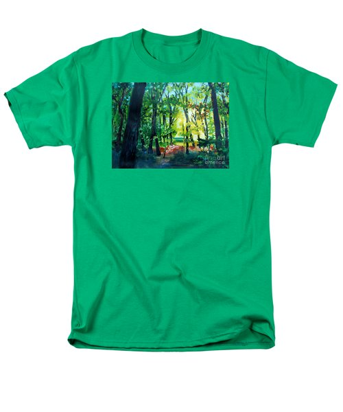 Men's T-Shirt  (Regular Fit) featuring the painting Forest Scene 1 by Kathy Braud