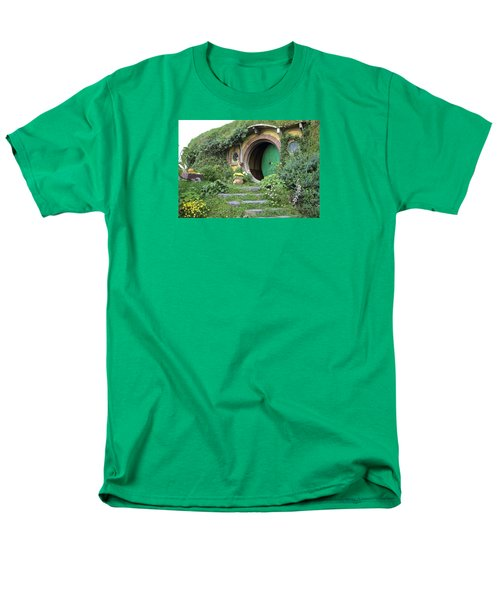 Frodo Baggins Lives Here Men's T-Shirt  (Regular Fit) by Venetia Featherstone-Witty