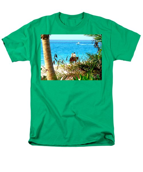 Men's T-Shirt  (Regular Fit) featuring the photograph Grace Bay Riding by Patti Whitten