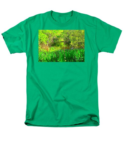 Men's T-Shirt  (Regular Fit) featuring the photograph Green As Emerald's by Michael Hoard