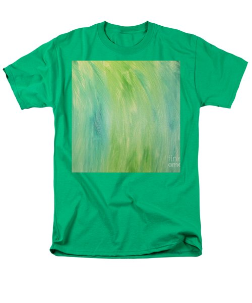 Green Shades Men's T-Shirt  (Regular Fit) by Barbara Yearty