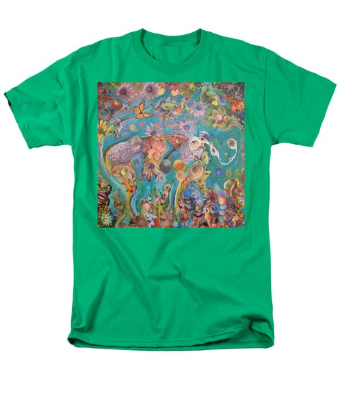 Men's T-Shirt  (Regular Fit) featuring the painting Jungledelphia by Douglas Fromm