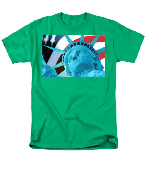 Lady Liberty  Men's T-Shirt  (Regular Fit) by Jerry Fornarotto