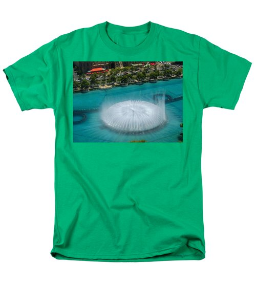 Men's T-Shirt  (Regular Fit) featuring the photograph Las Vegas Orb by Angela J Wright