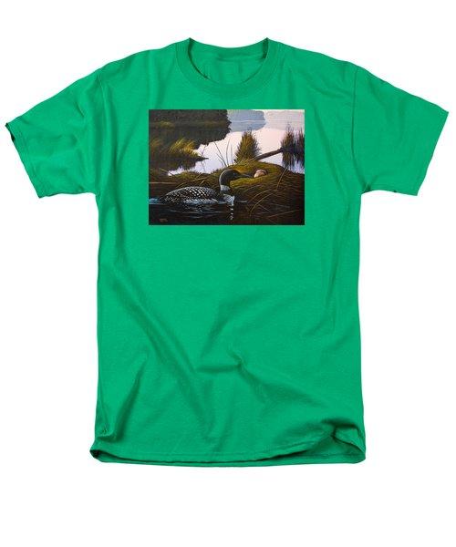 Loon Lake Men's T-Shirt  (Regular Fit) by Richard Faulkner