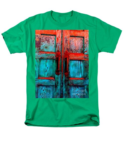 Old Church Door Handles 2 Men's T-Shirt  (Regular Fit) by Becky Lupe