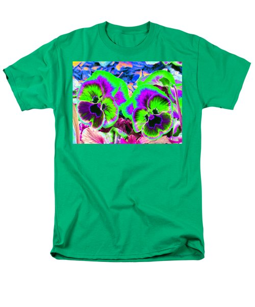 Pansy Power 60 Men's T-Shirt  (Regular Fit) by Pamela Critchlow
