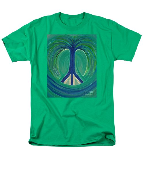 Peace Tree By Jrr Men's T-Shirt  (Regular Fit) by First Star Art
