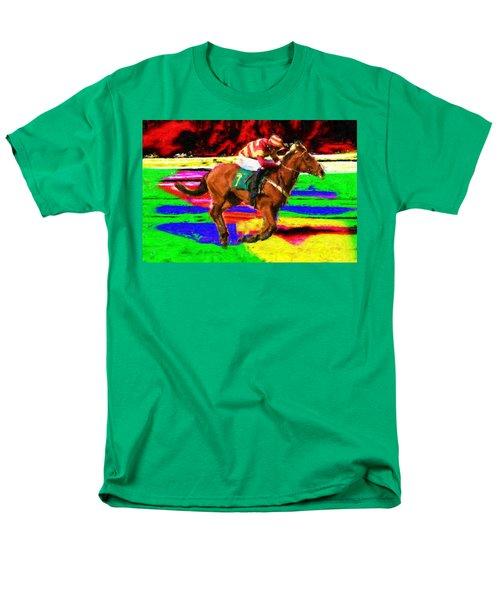 Racehorse Men's T-Shirt  (Regular Fit) by Ron Harpham