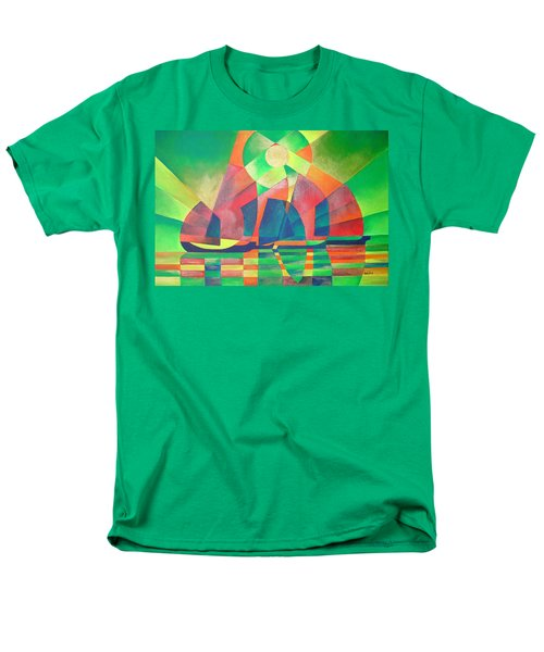 Men's T-Shirt  (Regular Fit) featuring the painting Sea Of Green by Tracey Harrington-Simpson