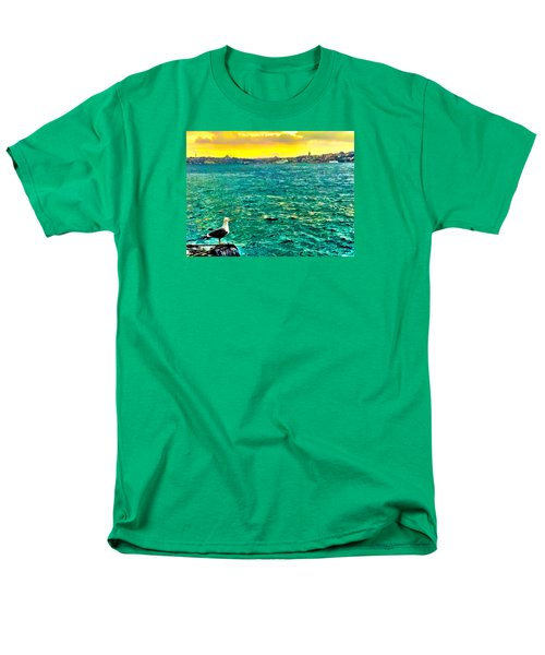 She Is Late Again  Men's T-Shirt  (Regular Fit) by Zafer Gurel