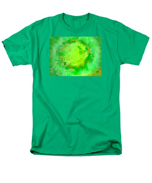 Original Abstract Art Painting Sunlight In The Trees  Men's T-Shirt  (Regular Fit) by RjFxx at beautifullart com