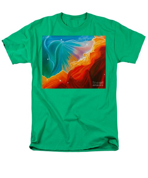 Men's T-Shirt  (Regular Fit) featuring the painting Swan Nebula by Barbara McMahon
