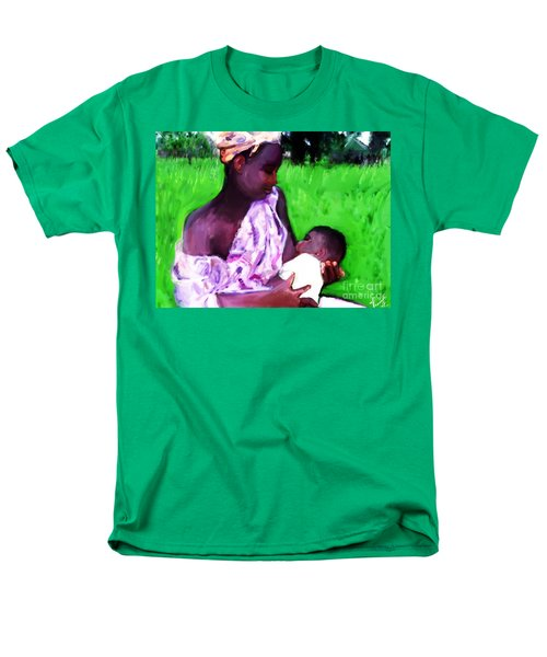 Men's T-Shirt  (Regular Fit) featuring the painting The Feeding 2 by Vannetta Ferguson