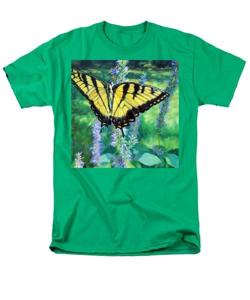 Tiger Swallowtail- Enjoying The Sweetness Men's T-Shirt  (Regular Fit) by Bonnie Mason