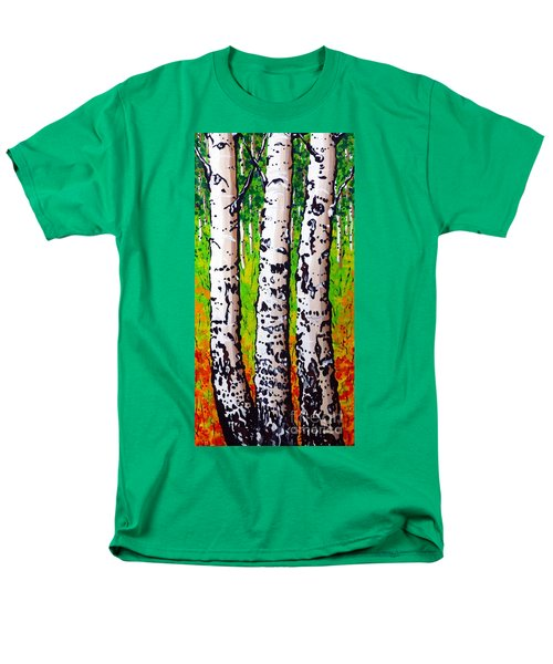Men's T-Shirt  (Regular Fit) featuring the painting Tom Dick And Harry by Jackie Carpenter