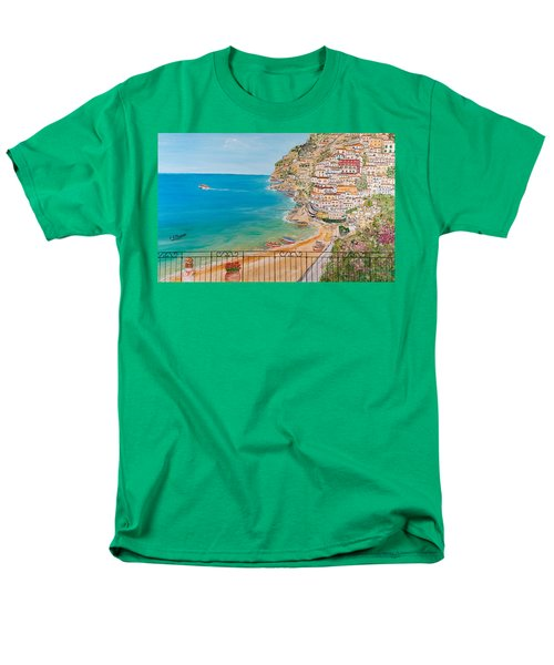 Men's T-Shirt  (Regular Fit) featuring the painting Vista Su Positano by Loredana Messina