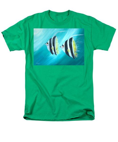 Men's T-Shirt  (Regular Fit) featuring the painting Angel Fish by Bernadette Krupa