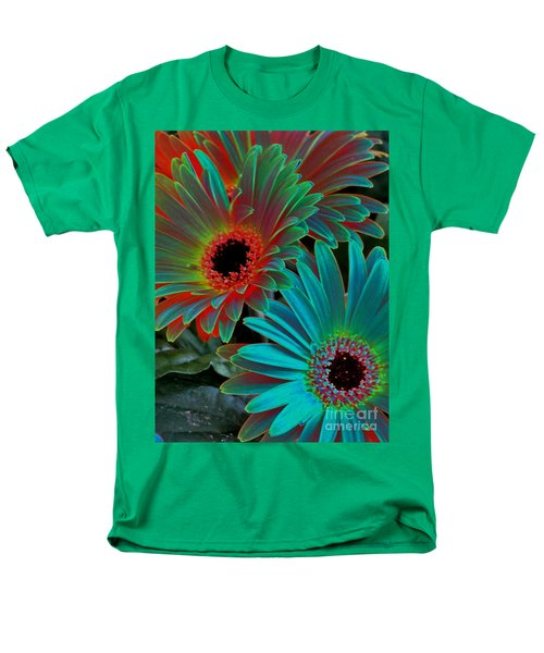 Daisies From Another Dimension Men's T-Shirt  (Regular Fit) by Rory Sagner