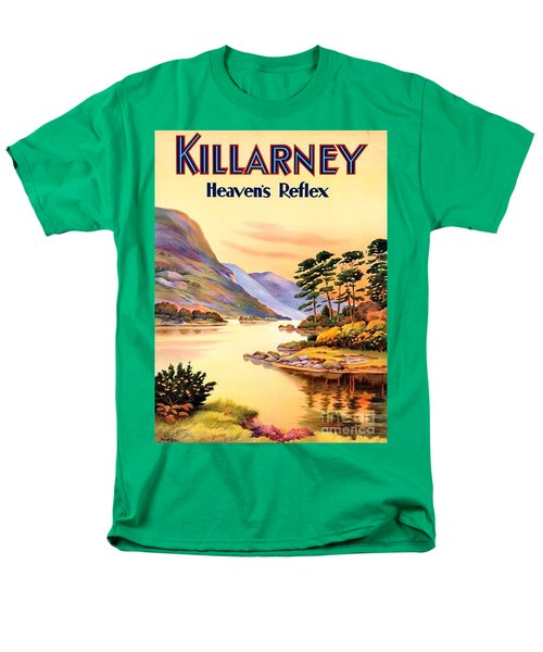 Men's T-Shirt  (Regular Fit) featuring the painting Killarney by Pg Reproductions