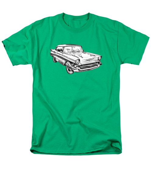1957 Chevy Bel Air Illustration Men's T-Shirt  (Regular Fit) by Keith Webber Jr