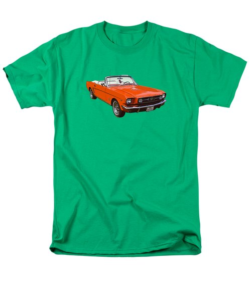 1965 Red Convertible Ford Mustang - Classic Car Men's T-Shirt  (Regular Fit) by Keith Webber Jr