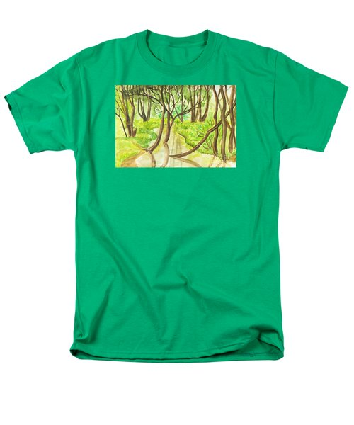Summer Landscape, Painting Men's T-Shirt  (Regular Fit) by Irina Afonskaya