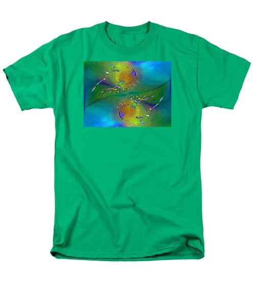 Men's T-Shirt  (Regular Fit) featuring the digital art Abstract Cubed 359 by Tim Allen