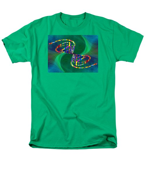 Men's T-Shirt  (Regular Fit) featuring the digital art Abstract Cubed 374 by Tim Allen