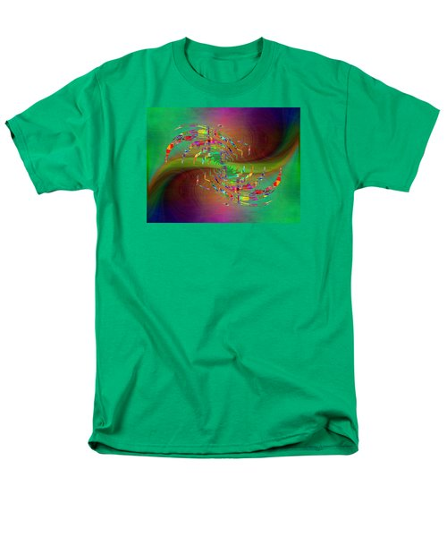 Men's T-Shirt  (Regular Fit) featuring the digital art Abstract Cubed 379 by Tim Allen