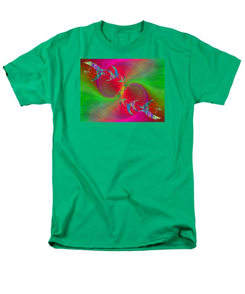 Men's T-Shirt  (Regular Fit) featuring the digital art Abstract Cubed 383 by Tim Allen