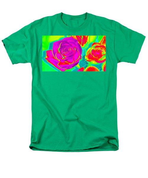 Abstract Roses Men's T-Shirt  (Regular Fit) by Karen J Shine