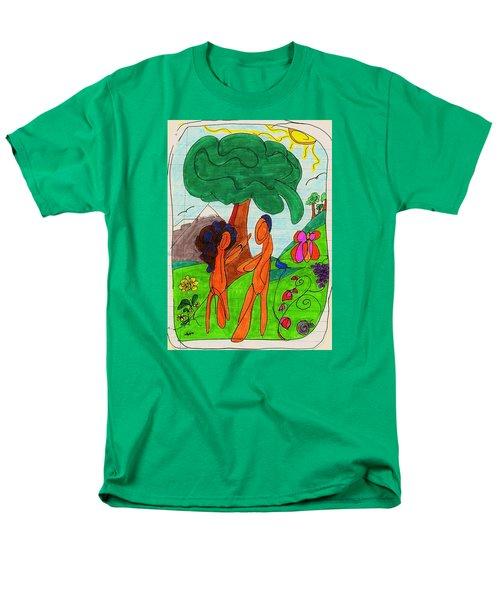 Adam And Eve Men's T-Shirt  (Regular Fit) by Martin Cline