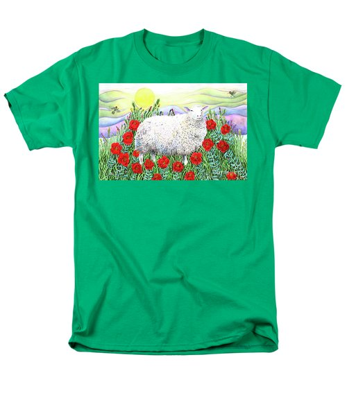 Arrival Of The Hummingbirds Men's T-Shirt  (Regular Fit) by Lise Winne