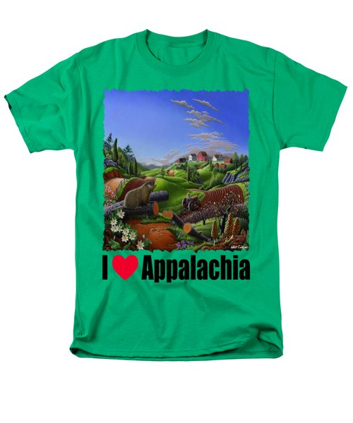 I Love Appalachia - Spring Groundhog Men's T-Shirt  (Regular Fit) by Walt Curlee