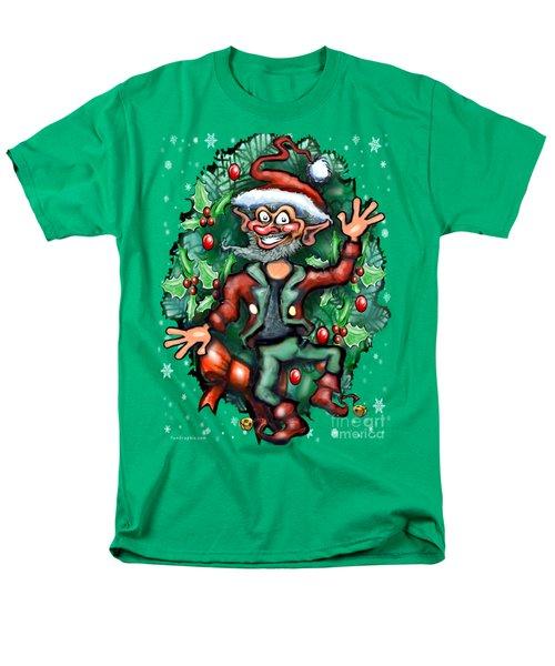 Christmas Elf Men's T-Shirt  (Regular Fit) by Kevin Middleton