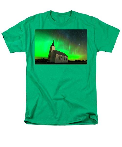 Aurora And Country Church Men's T-Shirt  (Regular Fit) by Dan Jurak