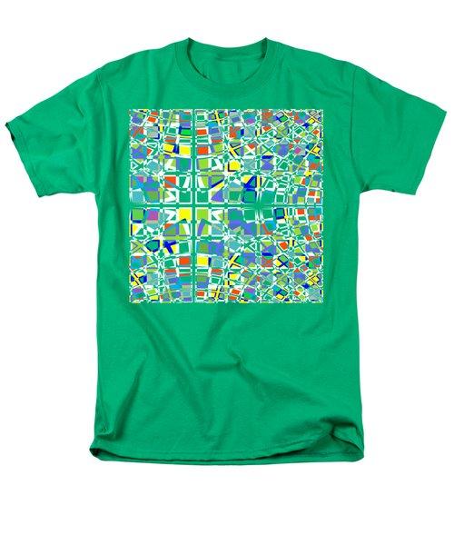 Background Choice Squares Men's T-Shirt  (Regular Fit) by Barbara Moignard