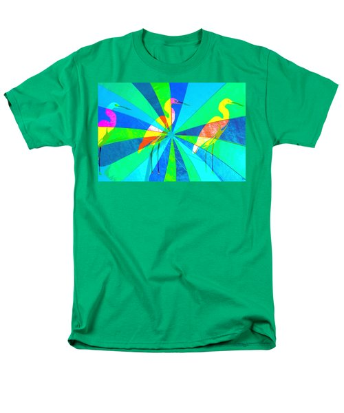 Men's T-Shirt  (Regular Fit) featuring the digital art Beach Friends by David Lee Thompson
