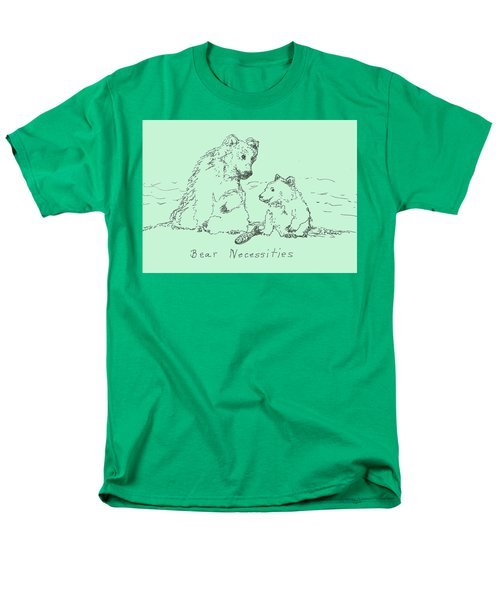 Men's T-Shirt  (Regular Fit) featuring the drawing Bear Necessities by Denise Fulmer