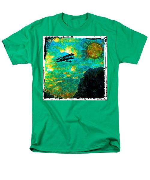 Men's T-Shirt  (Regular Fit) featuring the digital art Biplane by Iowan Stone-Flowers