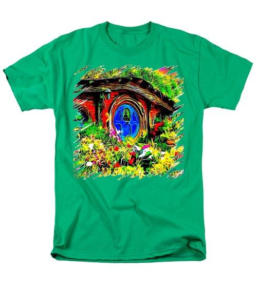 Blue Door Hobbit House-t Shirt Men's T-Shirt  (Regular Fit) by Kathy Kelly